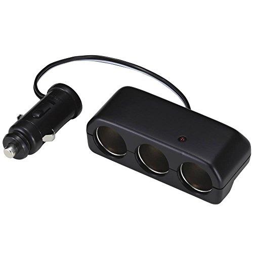 ナポレックス シガーソケット 3連 マルチソケットS3 通電ランプ付 コードタイプ 汎用 Fizz-893