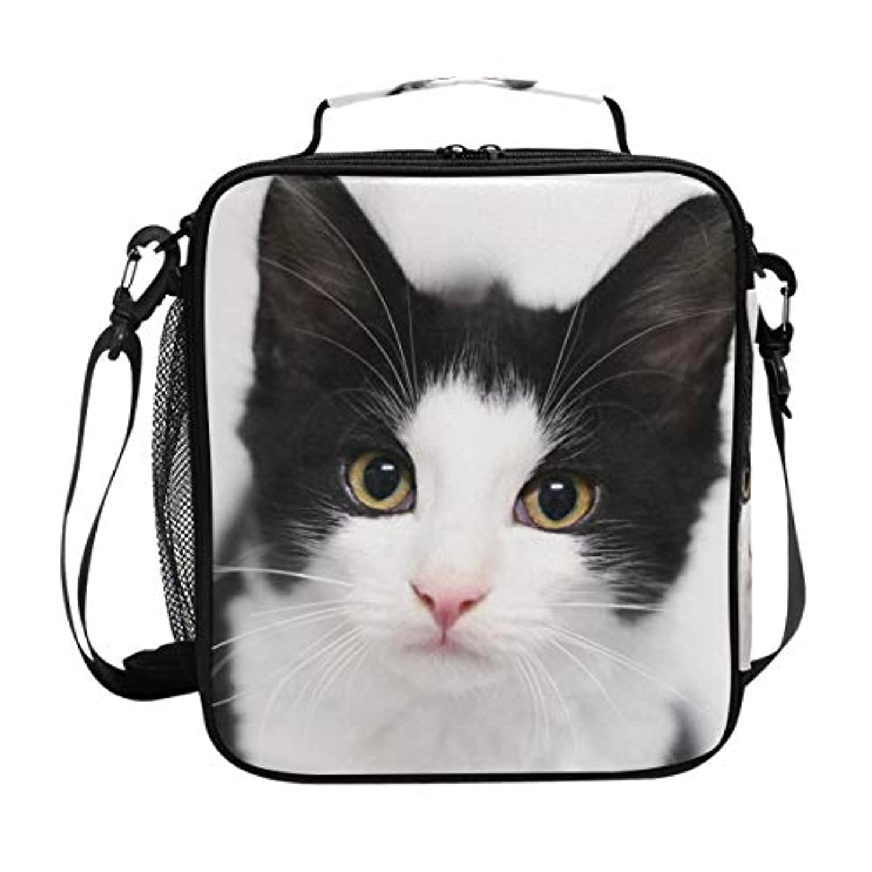 VAWA ランチバッグ お弁当バッグ 猫柄 保冷バッグ 保温 かわいい お弁当袋 大容量 弁当箱 ランチボック 防水 食品収納 通勤 通学 高校生 子供用