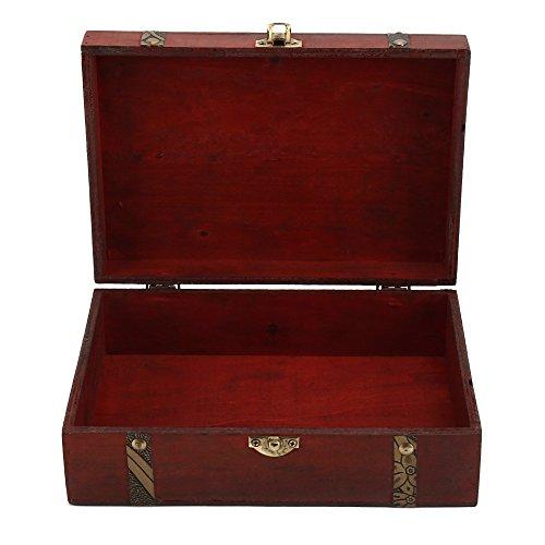 PandaCherry_JP 木箱 ボックス 収納 アンティーク風 収納ボックス レトロボックス 小物入れ アクセサリー 整理 収納盒