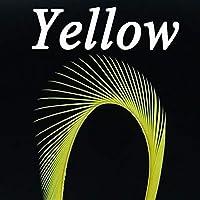 DENGHUI,Fishing, グースフェザーBiots剥奪10PCSマルチカラーカワゲラテイルス、アンテナ、翼、ボディとWingcasesフライタイイングマテリアルです (色 : 10PCS Yellow)