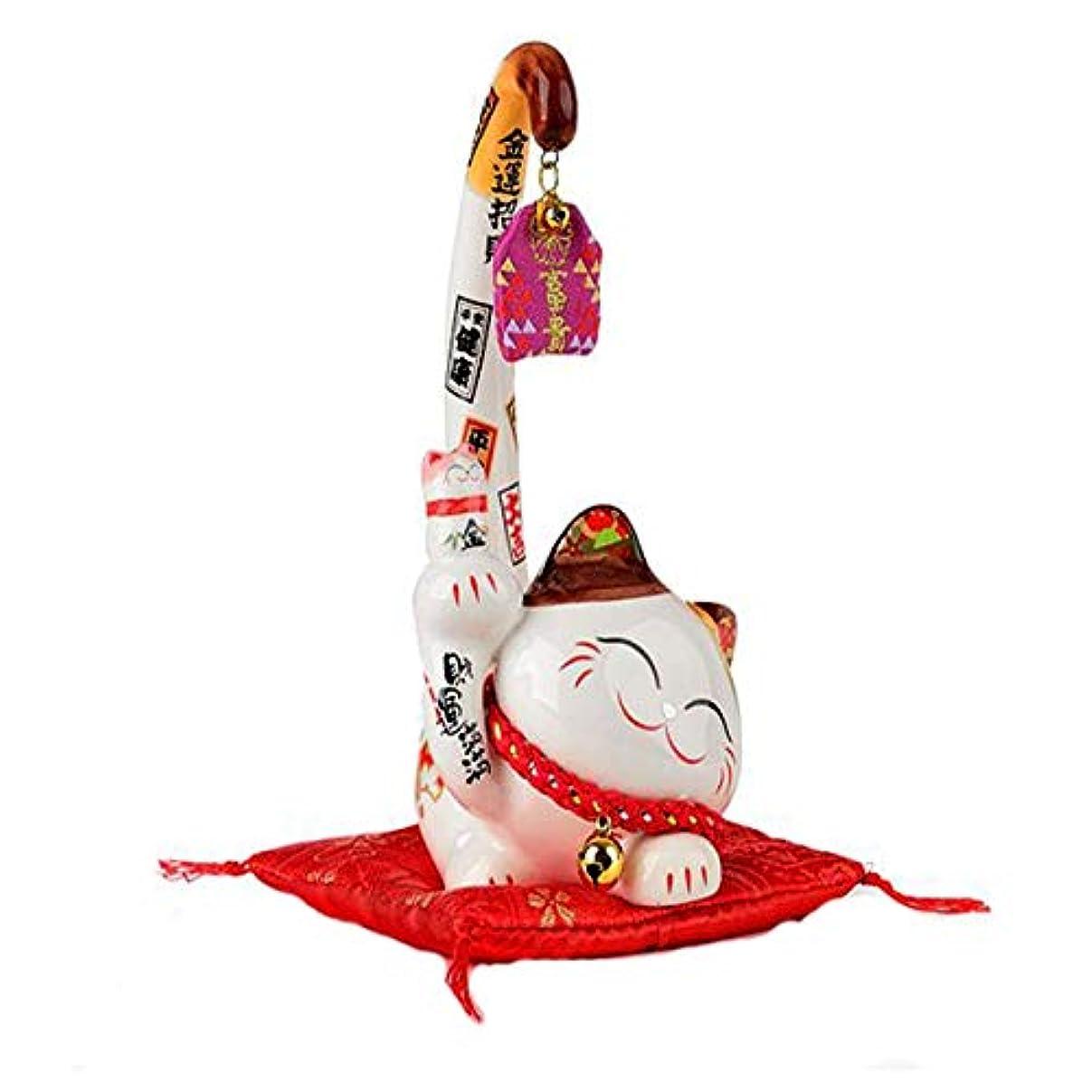 せがむ泳ぐ酔うHongyushanghang ラッキーキャットミニクリエイティブギフトオフィスの装飾品ロングテールキャット,、ジュエリークリエイティブホリデーギフトを掛ける (Size : L)