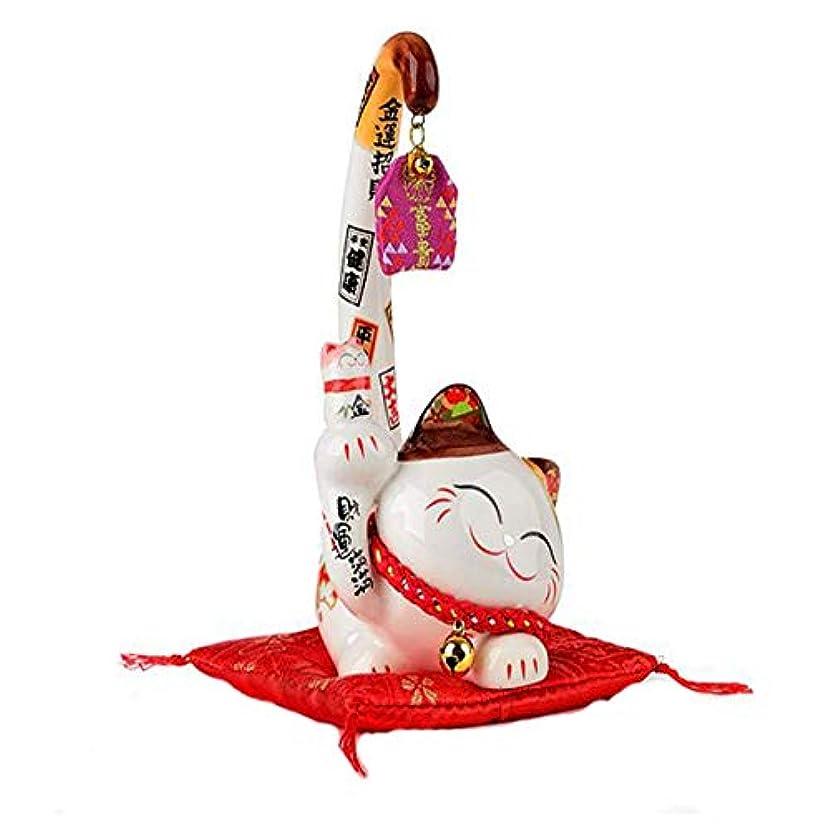 動かないテスピアンロードハウスYoushangshipin ラッキーキャットミニクリエイティブギフトオフィスの装飾品ロングテールキャット,美しいギフトボックス (Size : M)