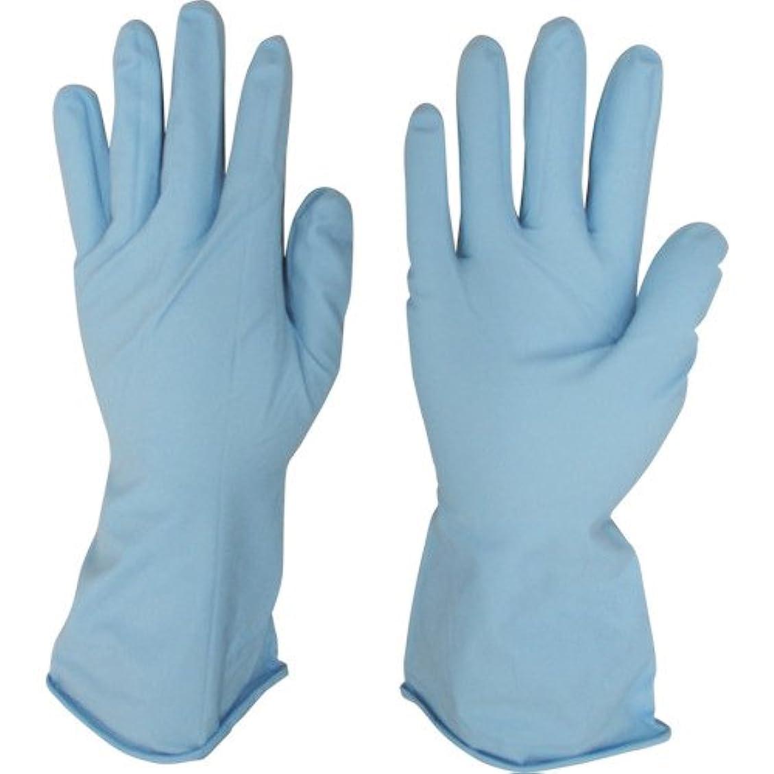 宇都宮製作 作業用手袋 シンガーニトリル薄手手袋 パウダーフリー ブルー 10双入 S