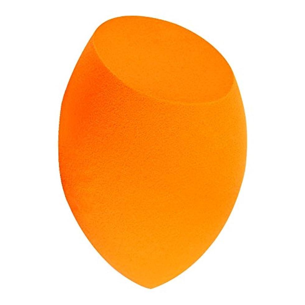 恥錆びベアリングFULL Beauty 化粧スポンジ 美容ツール メイクアップツール 多機能メイク用スポンジパフ 斜め丸型 オレンジ