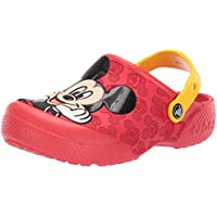 Crocs Unisex-Child 205427-8C1 Fun Lab Mickey Clog Red Size: