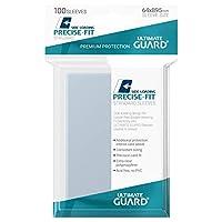 Ultimate Guard 透明 精密フィット サイドローディング 標準サイズ スリーブ 100ct インナーカードスリーブ 個別パック