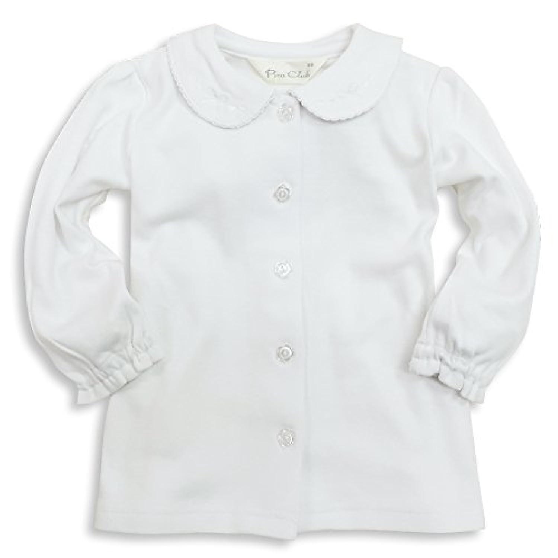 ASHBERRY (アッシュベリー) ニットブラウス(白ブラウス)長袖[シンプル/リボン柄刺繍]綿100%/フォーマル/女の子(723015/743011)
