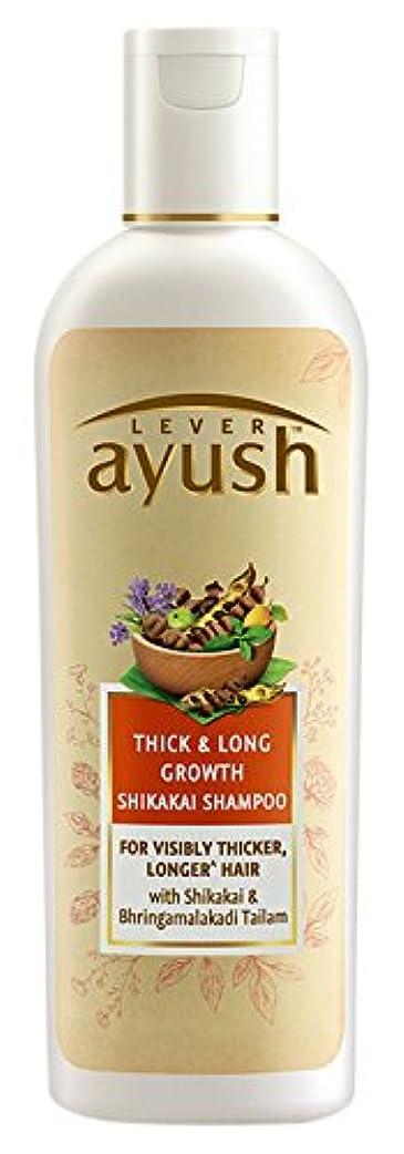 故国醸造所その他Lever Ayush Thick and Long Growth Shikakai Shampoo, 175ml - 並行輸入品 - レバーアユッシュシック&ロンググローブシカカイシャンプー、175ml