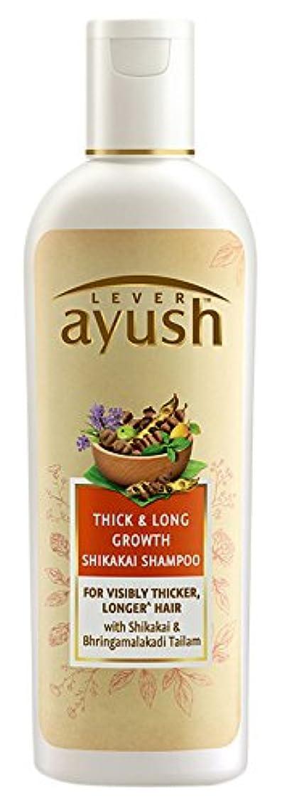 立場会社アコードLever Ayush Thick and Long Growth Shikakai Shampoo, 175ml - 並行輸入品 - レバーアユッシュシック&ロンググローブシカカイシャンプー、175ml