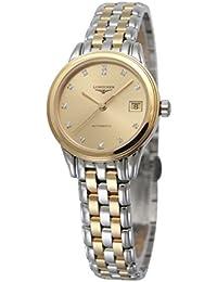 [ロンジン]LONGINES 腕時計 フラッグシップ 自動巻き 12Pダイヤモンド L4.274.3.37.7 レディース 【並行輸入品】