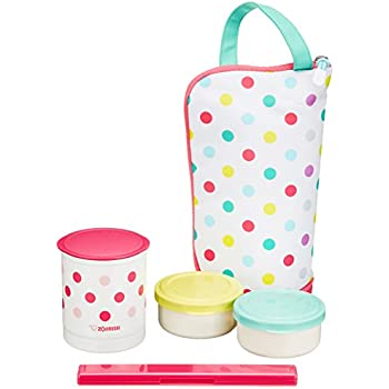 THERMOS fresh food container 0.545L with Porch Peach Bag DJI-500 PCH from Japan