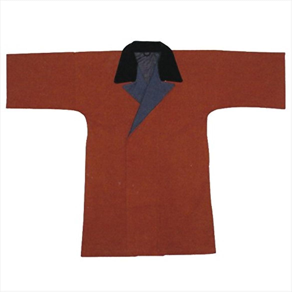 不忠染料昨日袢天コート ポケット付き 濃紺?茶?濃紺縞 B581-583