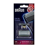 Braun Replacement Foil & Cutter - 31S, Series 3, Contour, Flex Integral - 5000 Series - Silver