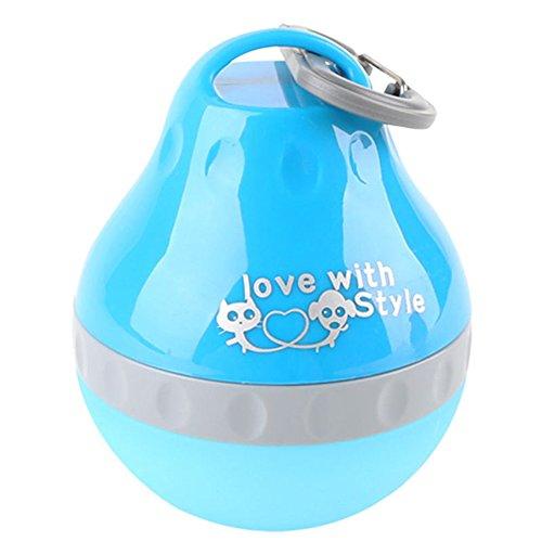 SHOHASH ペット用ボトル 犬用給水器 水筒 携帯用給水ボトル 携帯しやすい 旅行 お出かけ便利 (200ML, ブルー)