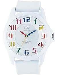 [シチズン キューアンドキュー]CITIZEN Q&Q 腕時計 ドームウォッチ アナログ表示 二層文字板 10気圧防水 ホワイト×マルチカラー VR46-009 メンズ