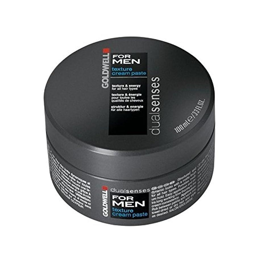Goldwell Dualsenses For Men Texture Cream Paste (100ml) (Pack of 6) - 男性のテクスチャーのクリームペースト(100ミリリットル)のためのの x6 [並行輸入品]