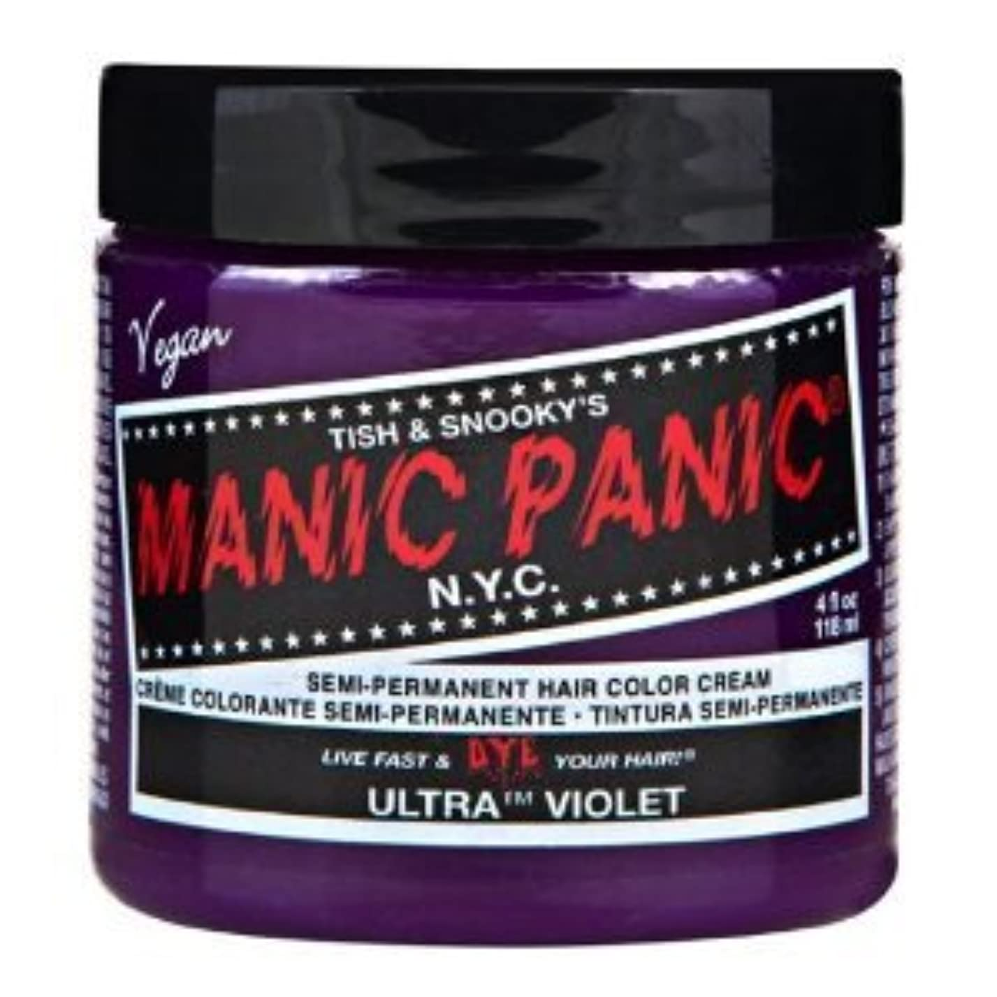 曲見通し試用MANIC PANICマニックパニック:Ultra Violet (ウルトラ?ヴァイオレット) 118ml