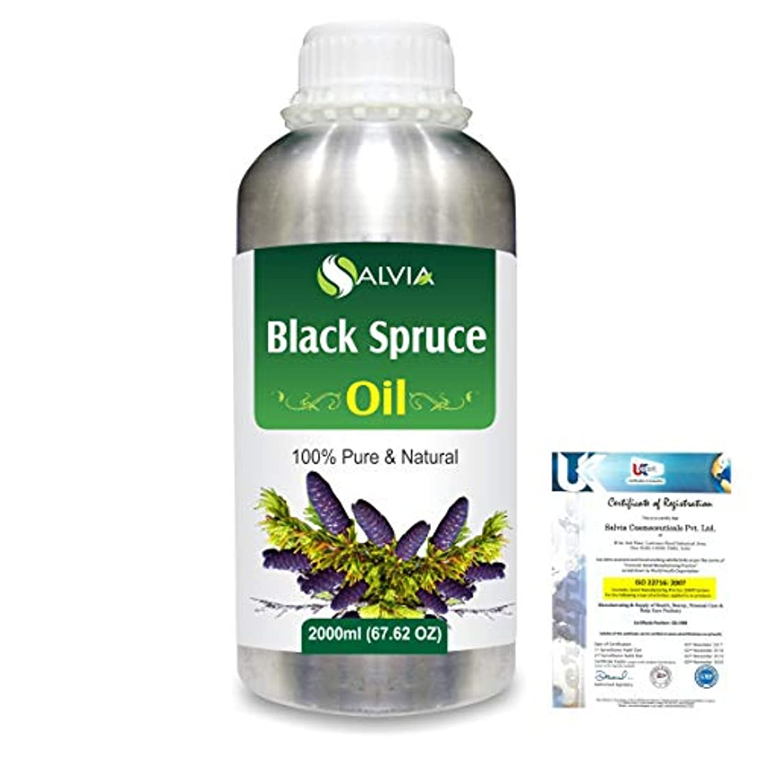 金銭的実行可能フロントBlack Spruce (Picea Mariana) 100% Natural Pure Essential Oil 2000ml/67 fl.oz.