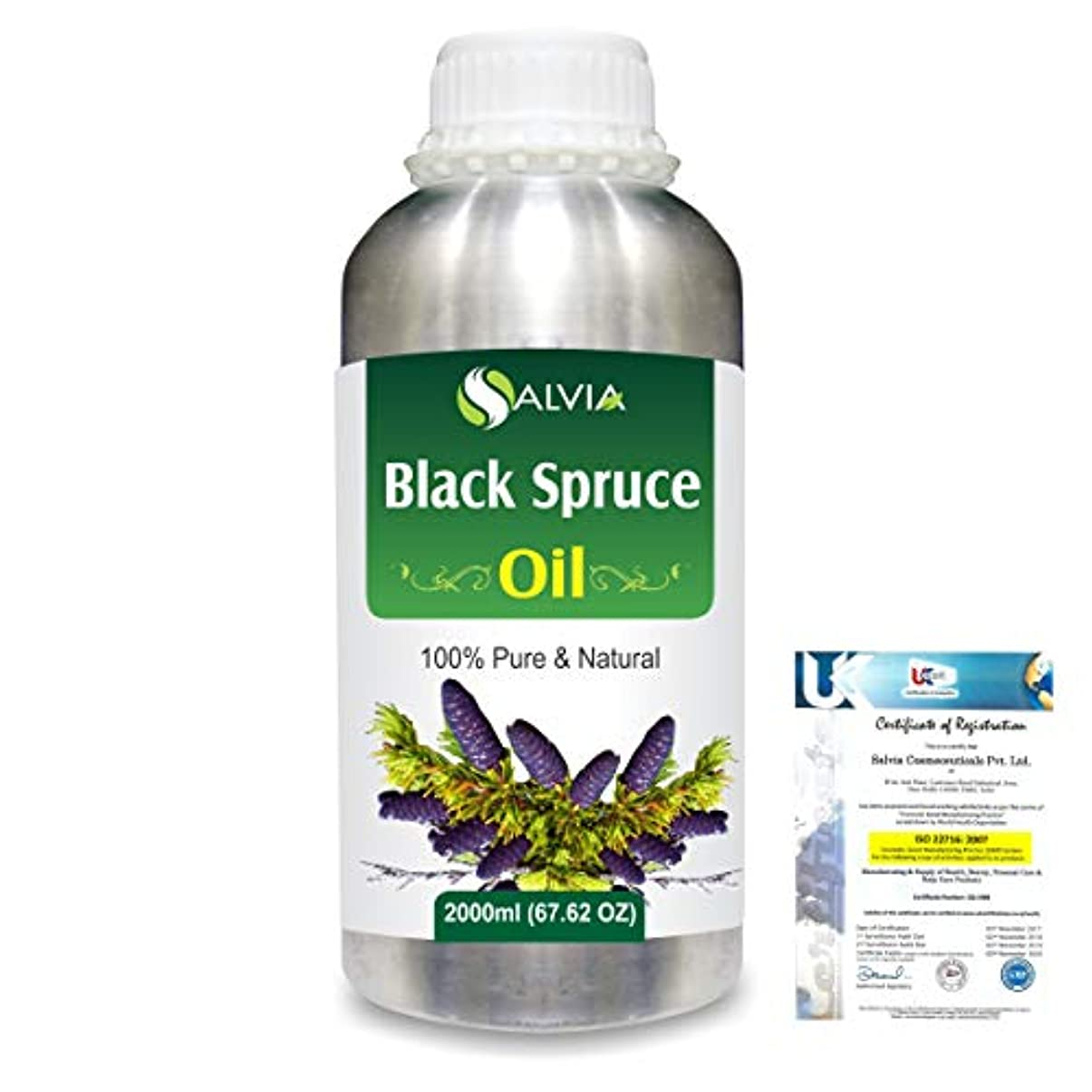 マラドロイト活気づくアクティビティBlack Spruce (Picea Mariana) 100% Natural Pure Essential Oil 2000ml/67 fl.oz.