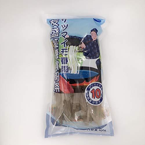 友盛紅薯寛粉条(約10mm) サツマイモ春雨 お鍋の具 中華物産 400g