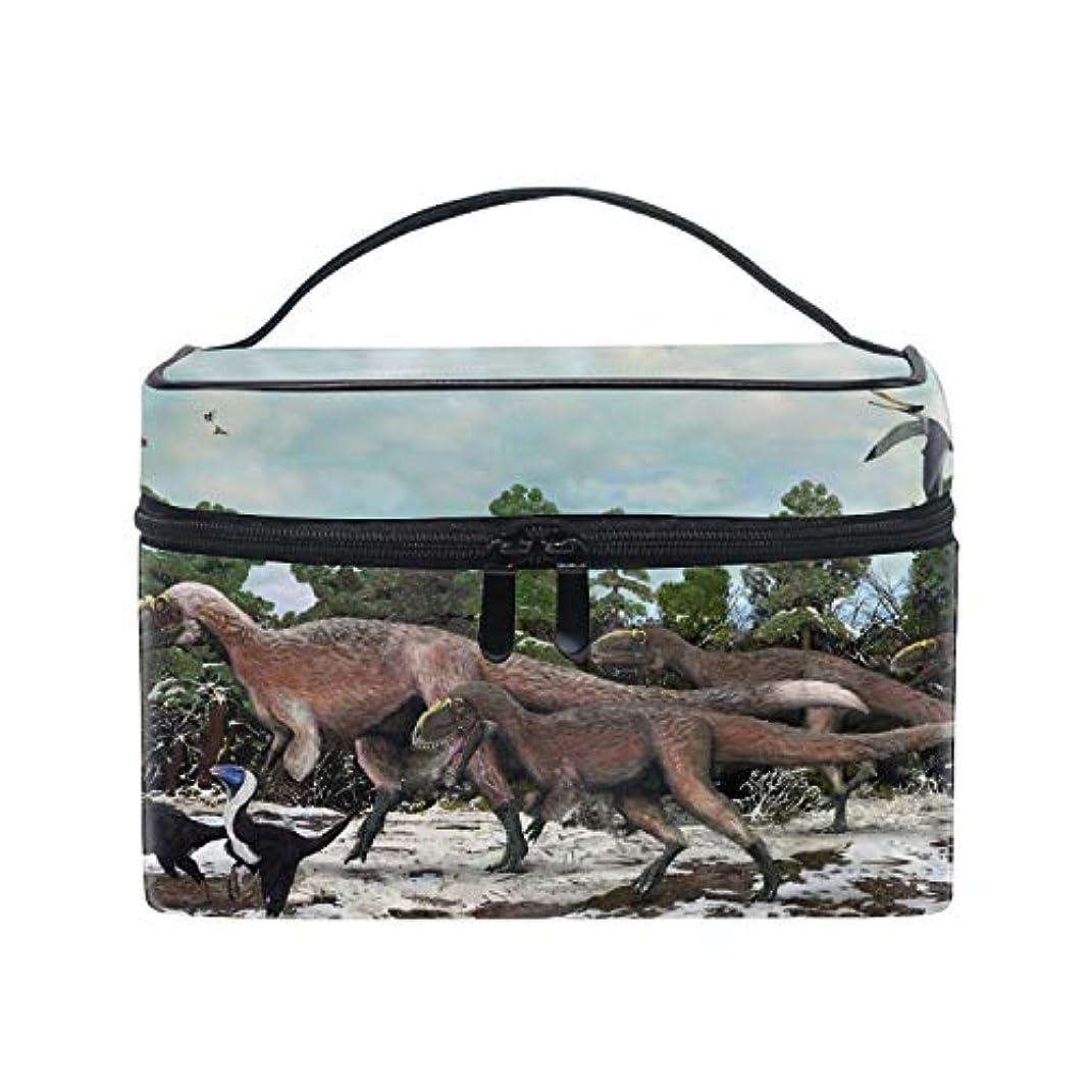 ご予約ドルナインへ化粧ポーチ レディース 人気 コスメポーチ ポーチ 大容量 かわいい恐竜