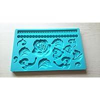 シリコンモールド型 ばら キャンドル レジン デコレーション 粘土
