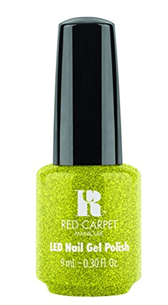 再撮り静かに描写Red Carpet Manicure - LED Nail Gel Polish - Power of the Gemstones - Peridot - 0.3oz/9ml