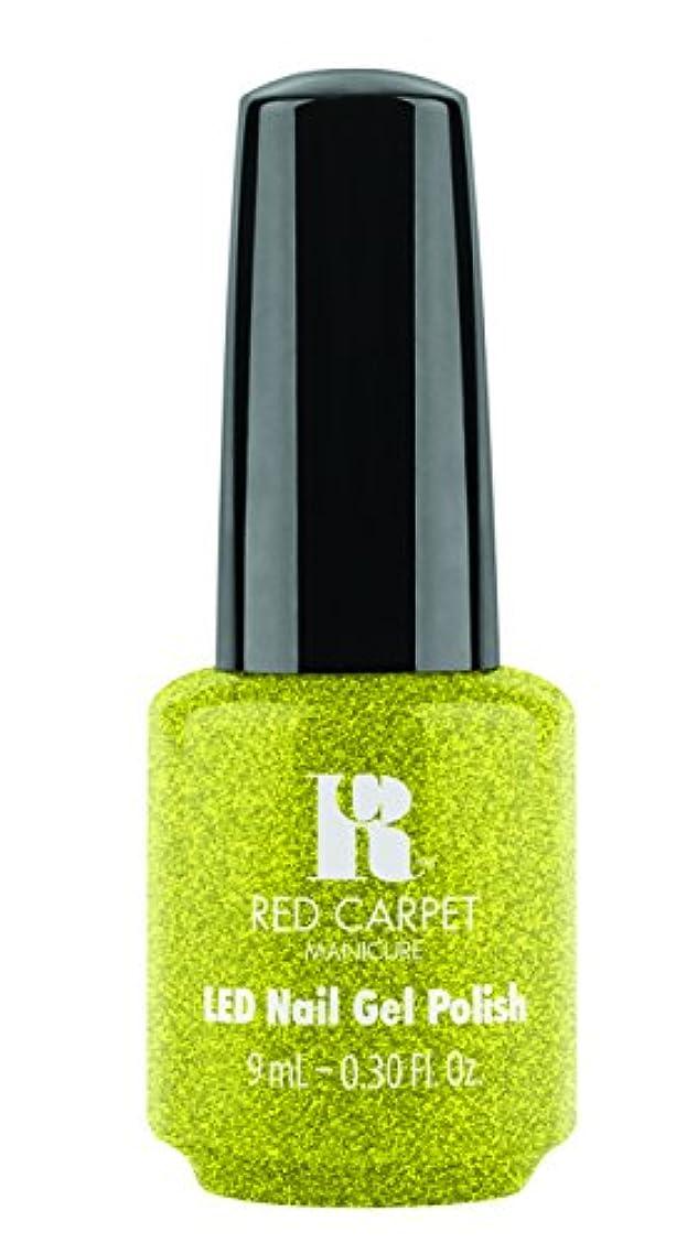 高度あいにく視線Red Carpet Manicure - LED Nail Gel Polish - Power of the Gemstones - Peridot - 0.3oz/9ml