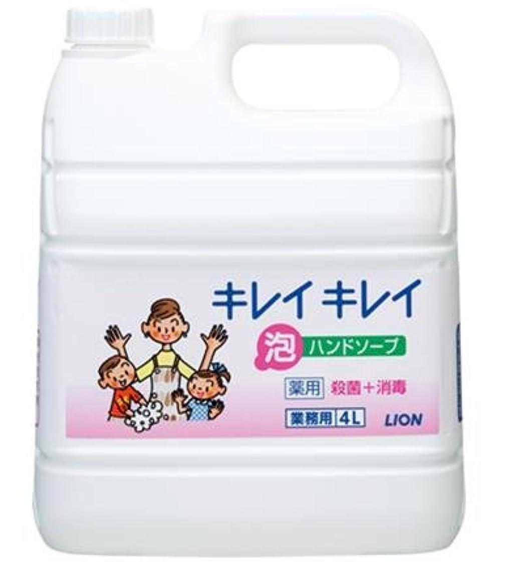 びっくりより平らな請うキレイキレイ薬用泡ハンドソープ 4Lボトル+専用泡容器250mLセット