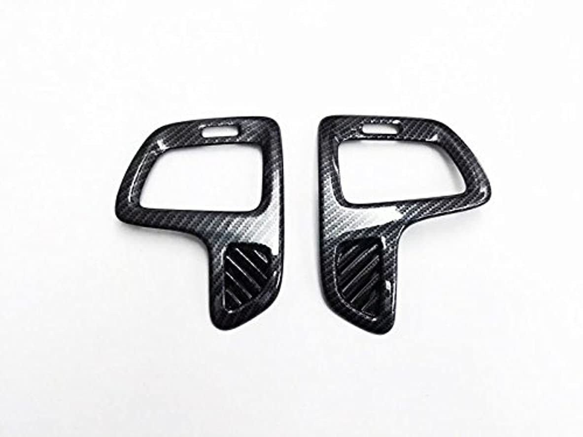 ほとんどの場合ローラー外向きJicorzo - 2pcs Carbon Fiber Style Car Side Air Vent Outlet Cover Trim Black for Jeep Compass 2017 2018 Car Interior...