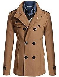(リザウンド) ReSOUND メンズ トレンチコート ロング Pコート 紳士服 冬物 ジャケット 防寒 アウター 367