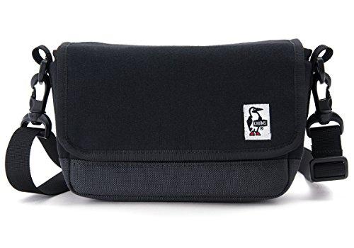 (チャムス) CHUMS スモールカメラショルダー スウェット & コーデュラナイロン ブラック/チャコール マイクロ一眼レフ カメラ デジカメ 用 バッグ