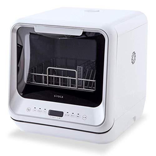 シロカ 2WAY食器洗い乾燥機 [工事不要/分岐水栓対応/タイマー搭載/360℃キレイウォッシュ] SS-M151