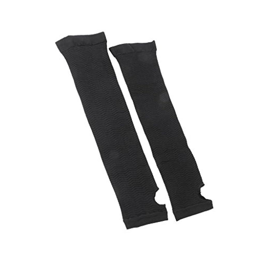 【ノーブランド品】インナーアーム アームバーニングトレンカ 二の腕ダイエット 2枚組 黒