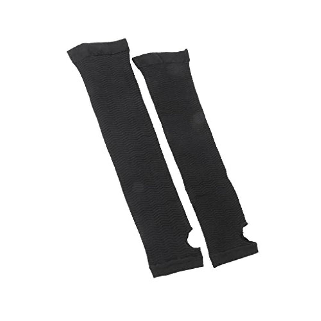 癒すみすぼらしいジーンズ【ノーブランド品】インナーアーム アームバーニングトレンカ 二の腕ダイエット 2枚組 黒