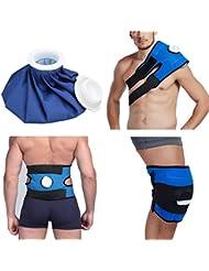 小型サイズの再使用可能なヘルスケアの膝の頭部の足の筋肉スポーツ傷害の軽減の痛みのアイスバッグ包帯が付いている無毒なアイスパック