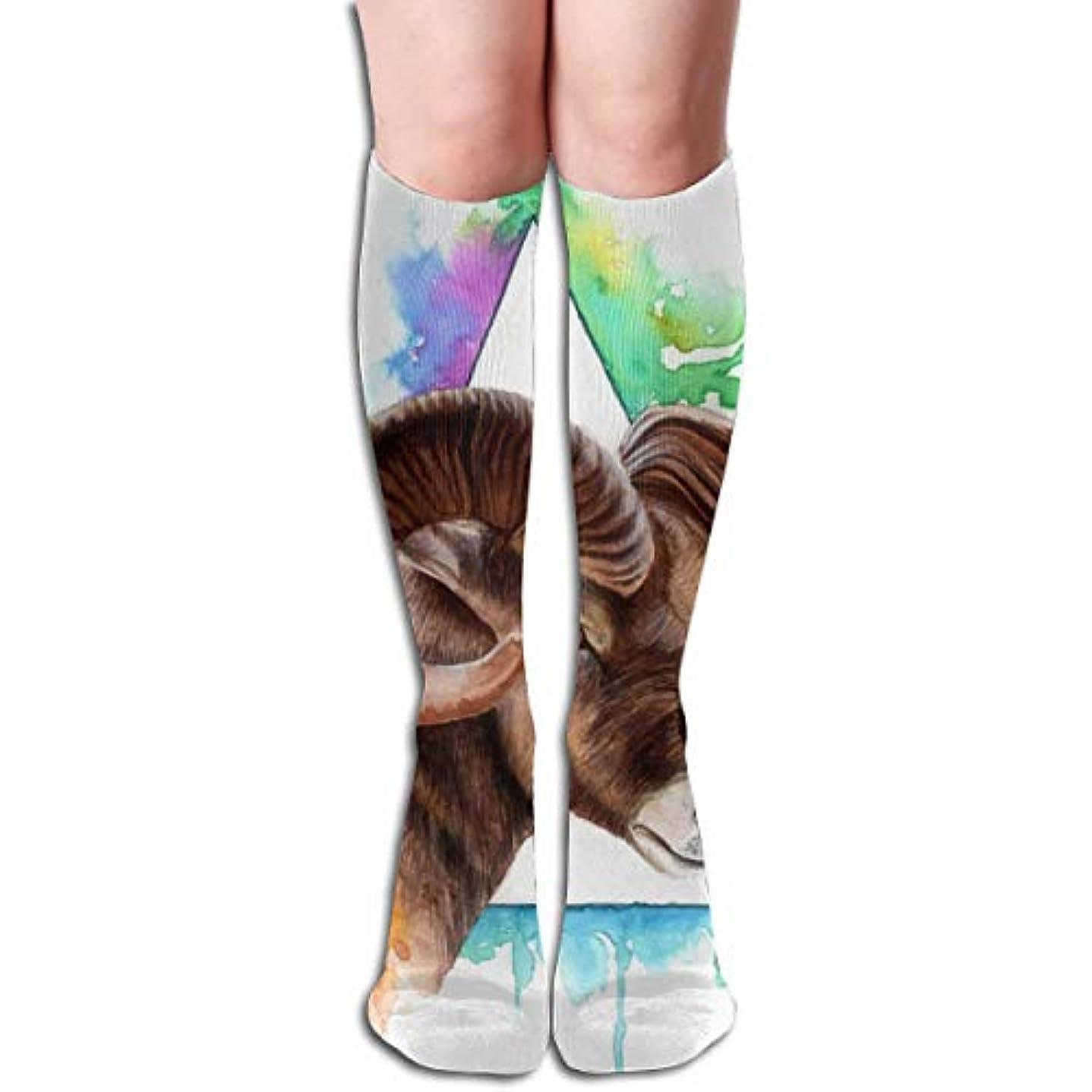 日付置換繰り返したBighorn Sheep Compression Socks Women&Men 15-20 mmHg Compression Stockings Best for Running、Medical、Travel