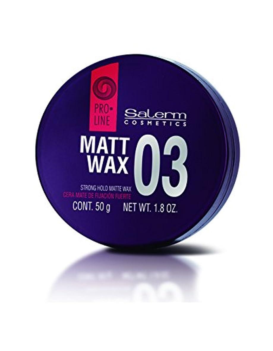 典型的なエキゾチック光沢Salerm 化粧品03マットワックスストロングホールド-size 1.8オンス