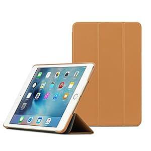 【日本正規代理店品】TUNEWEAR LeatherLook SHELL for iPad mini 4 ブラウン TUN-PD-100067