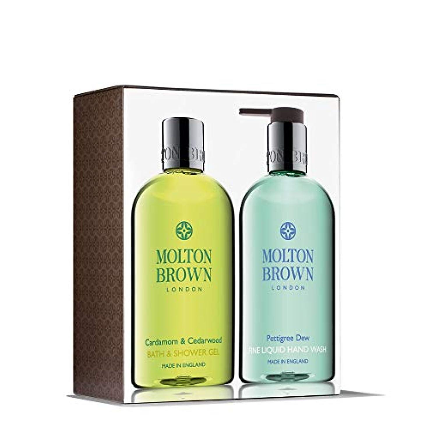 拮抗先投資するMOLTON BROWN(モルトンブラウン) カルダモン&シダーウッド アンド ペティグリーデュウ ハンド&ボディセット