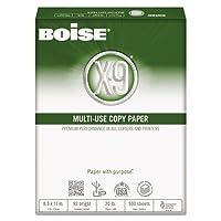 X - 9コピー3穴パンチ紙、92明るい、20lb、8–1/ 2x 11、ホワイト、5000/カートンとして販売、10Ream