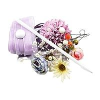 FLAMEER 人工花 ボールペン リボントリム 手芸用 DIY ギフト 創造 フラワーボールペン 2種選ぶ 工芸品 - 多色デイジーフラワー
