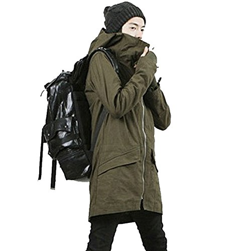 convoy leatherモッズコート メンズ ロングコート ミリタリー系 メンズコート フード付き インナー取り外し可能 無地 カジュアルロング丈 2017 秋冬コーデ … (M, カーキ)