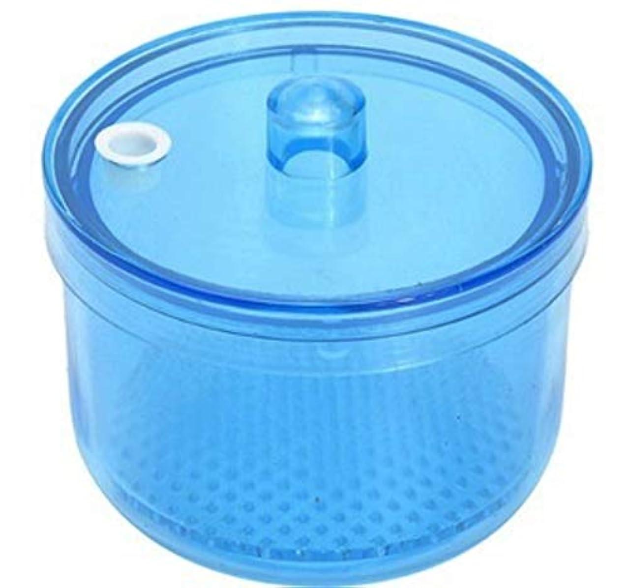 虫を数える毛布センサーMOFF 入れ歯洗浄ケース ポット 網付き リテーナーボックス デンタルケース 高温高圧殺菌 洗浄剤対応可能 耐熱温度134度 シンプル (ブルー)