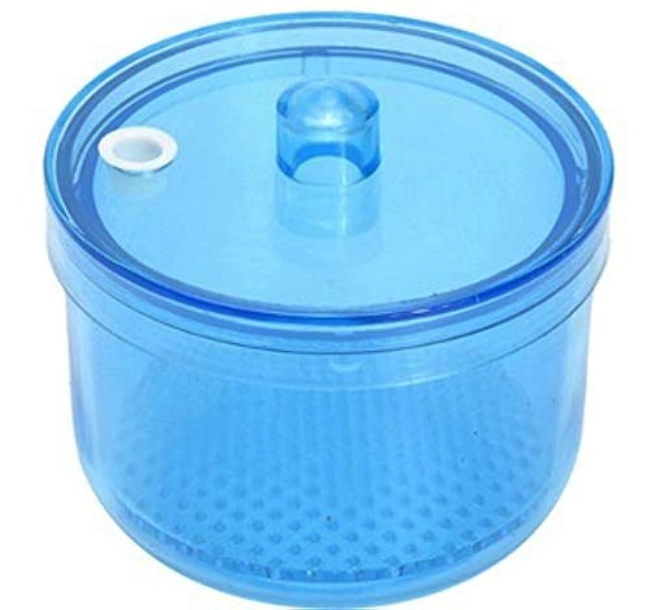 贅沢ステーキ木曜日MOFF 入れ歯洗浄ケース ポット 網付き リテーナーボックス デンタルケース 高温高圧殺菌 洗浄剤対応可能 耐熱温度134度 シンプル (ブルー)