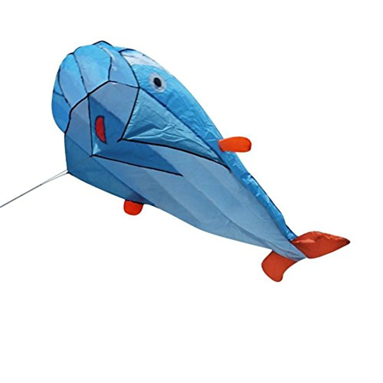 gracefulvara1個3d GiantフレームレスソフトブルーDolphin Kite