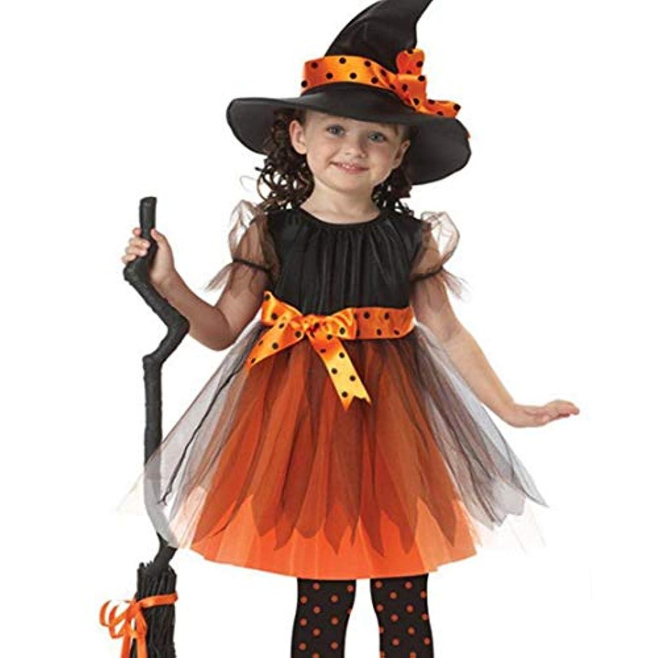 溝リベラル救出ハロウィンクリスマス子供服新しいコスチュームコスプレ魔女子供用ダンス服スカート+帽子