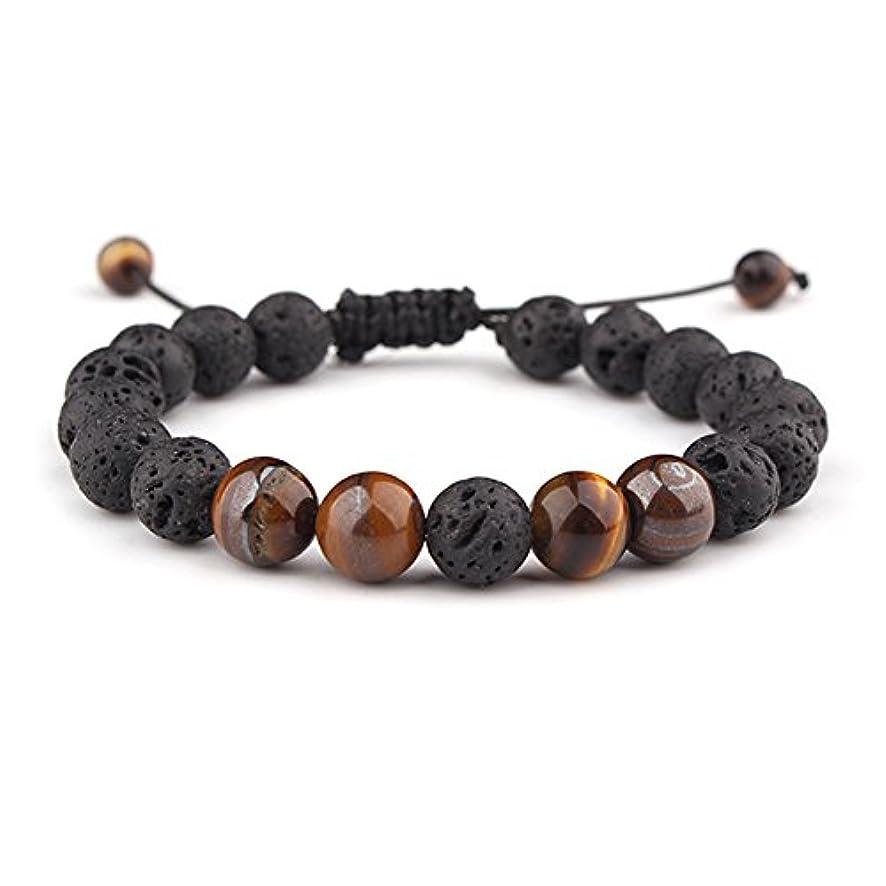 sulysi調節可能な溶岩石不安Essential Oil Diffuserブレスレットユニセックスwithターコイズ – 瞑想、リラックス、ヒーリング、アロマセラピー