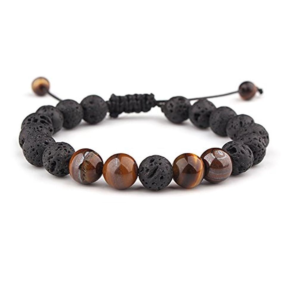 半導体なんでものぞき見sulysi調節可能な溶岩石不安Essential Oil Diffuserブレスレットユニセックスwithターコイズ – 瞑想、リラックス、ヒーリング、アロマセラピー