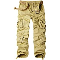 OCHENTA Men's Outdoor Wild Military 8 Pockets Cargo Pant